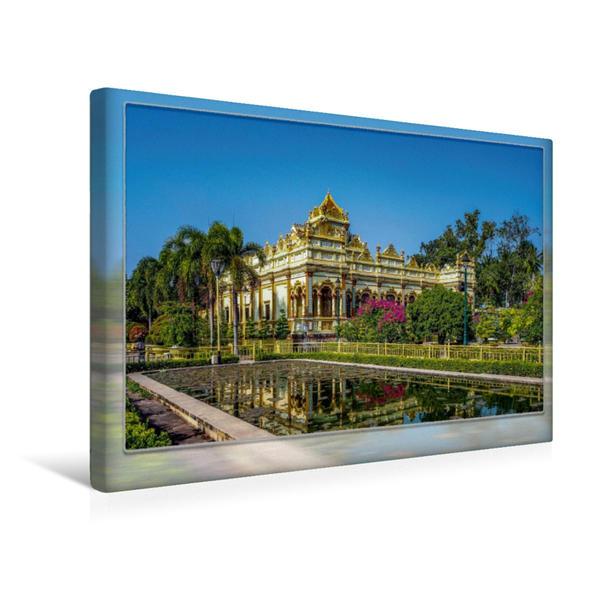 Premium Textil-Leinwand 45 cm x 30 cm quer, Vietnam, Chua Vinh Trang | Wandbild, Bild auf Keilrahmen, Fertigbild auf echter Leinwand, Leinwanddruck - Coverbild