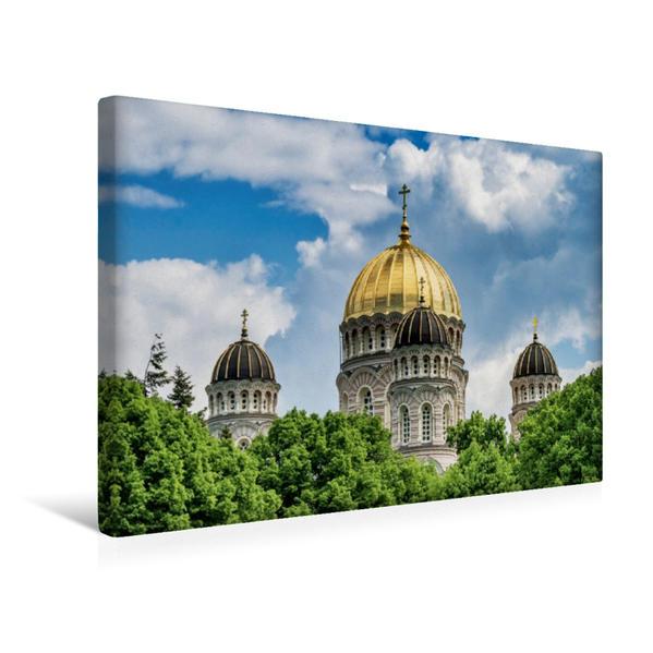 Premium Textil-Leinwand 45 cm x 30 cm quer, Russisch-Orthodoxe Christi-Geburt-Kathedrale | Wandbild, Bild auf Keilrahmen, Fertigbild auf echter Leinwand, Leinwanddruck - Coverbild