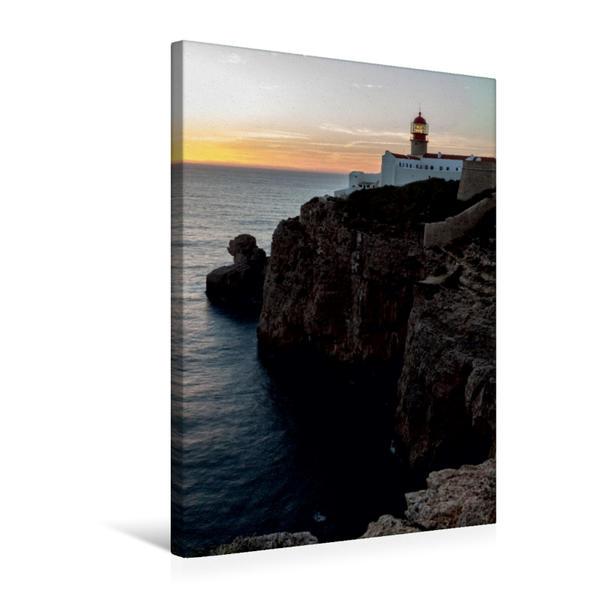 Premium Textil-Leinwand 50 cm x 75 cm hoch, Ein Motiv aus dem Kalender Seezeichen - Leuchttürme an Portugals Küsten | Wandbild, Bild auf Keilrahmen, Fertigbild auf echter Leinwand, Leinwanddruck - Coverbild