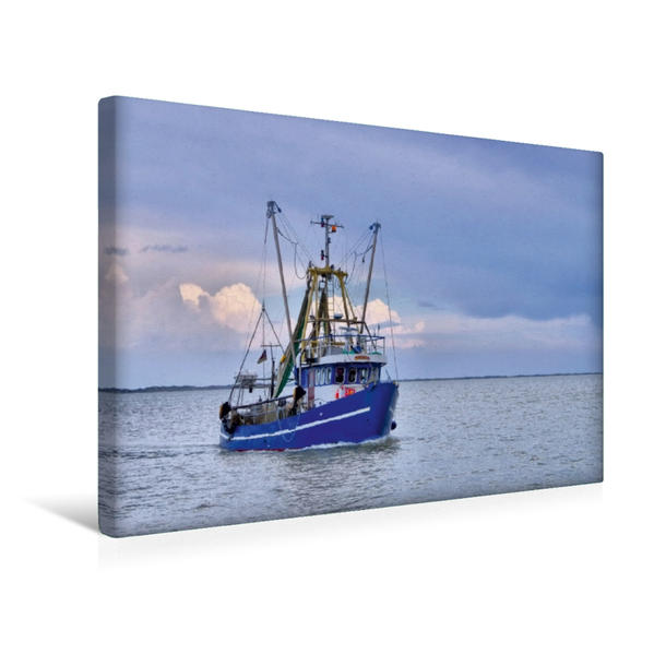 Premium Textil-Leinwand 45 cm x 30 cm quer, Krabbenkutter | Wandbild, Bild auf Keilrahmen, Fertigbild auf echter Leinwand, Leinwanddruck - Coverbild