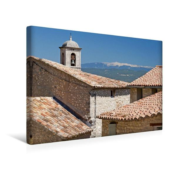 Premium Textil-Leinwand 45 cm x 30 cm quer, Mont Ventoux, der heilige Berg der Provence | Wandbild, Bild auf Keilrahmen, Fertigbild auf echter Leinwand, Leinwanddruck - Coverbild