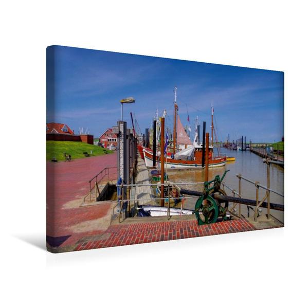 Premium Textil-Leinwand 45 cm x 30 cm quer, Ditzum | Wandbild, Bild auf Keilrahmen, Fertigbild auf echter Leinwand, Leinwanddruck - Coverbild