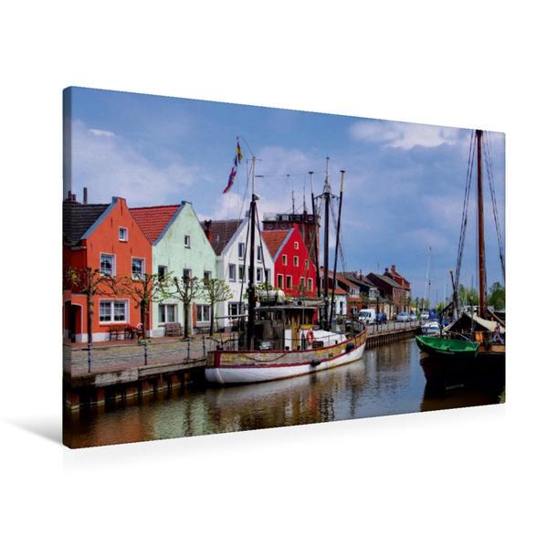 Premium Textil-Leinwand 90 cm x 60 cm quer, Weener | Wandbild, Bild auf Keilrahmen, Fertigbild auf echter Leinwand, Leinwanddruck - Coverbild