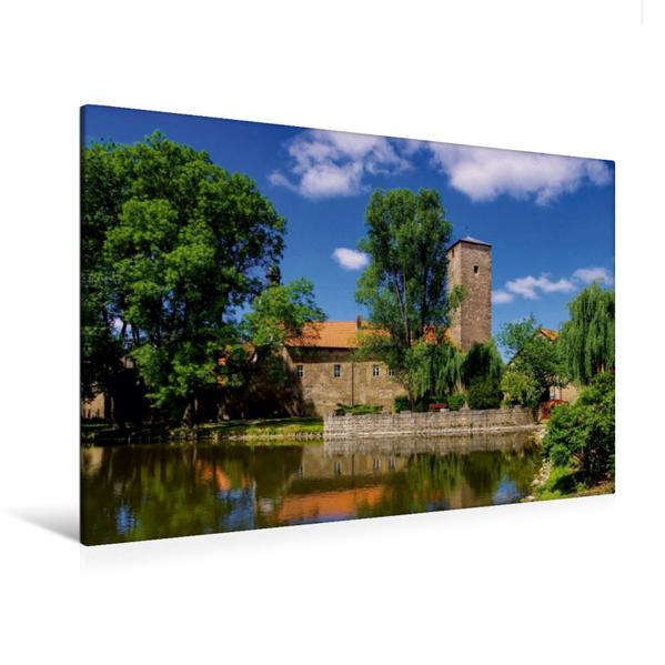 Premium Textil-Leinwand 120 cm x 80 cm quer, Wasserburg Zilly   Wandbild, Bild auf Keilrahmen, Fertigbild auf echter Leinwand, Leinwanddruck - Coverbild