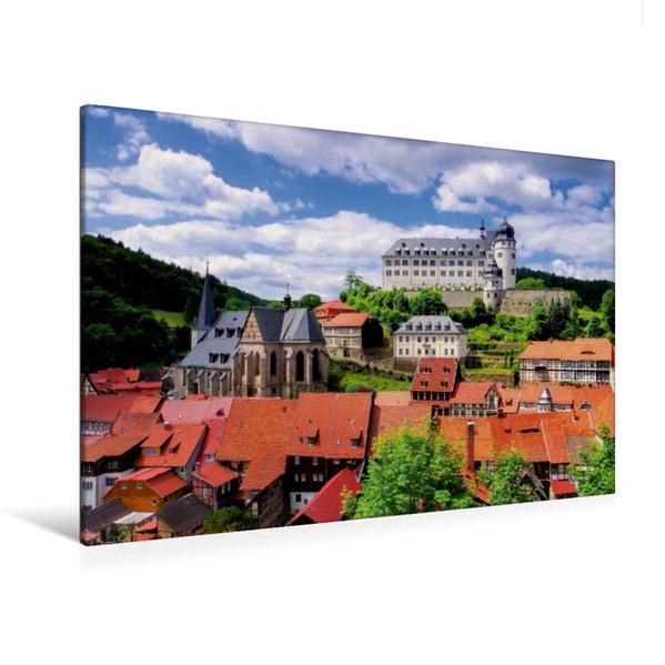 Premium Textil-Leinwand 120 cm x 80 cm quer, Stolberg   Wandbild, Bild auf Keilrahmen, Fertigbild auf echter Leinwand, Leinwanddruck - Coverbild