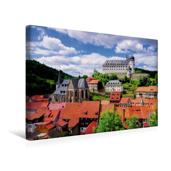 Premium Textil-Leinwand 45 cm x 30 cm quer, Stolberg | Wandbild, Bild auf Keilrahmen, Fertigbild auf echter Leinwand, Leinwanddruck - Coverbild