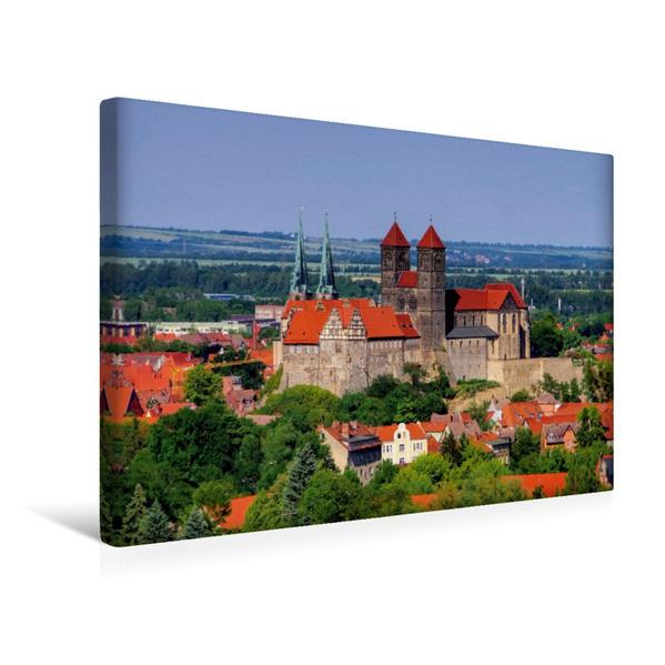 Premium Textil-Leinwand 45 cm x 30 cm quer, Schlossberg mit Klosterkirche | Wandbild, Bild auf Keilrahmen, Fertigbild auf echter Leinwand, Leinwanddruck - Coverbild