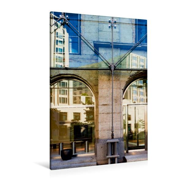 Premium Textil-Leinwand 80 cm x 120 cm  hoch, Ein Motiv aus dem Kalender Spiegelungen in der Architektur | Wandbild, Bild auf Keilrahmen, Fertigbild auf echter Leinwand, Leinwanddruck - Coverbild