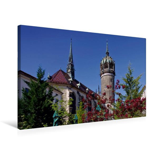 Premium Textil-Leinwand 75 cm x 50 cm quer, Schlosskirche | Wandbild, Bild auf Keilrahmen, Fertigbild auf echter Leinwand, Leinwanddruck - Coverbild