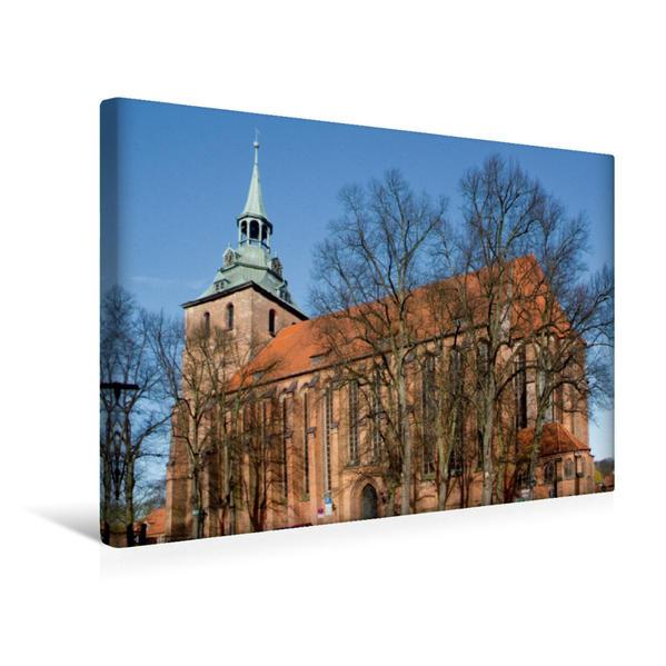 Premium Textil-Leinwand 45 cm x 30 cm quer, Michaeliskirche, Lüneburg | Wandbild, Bild auf Keilrahmen, Fertigbild auf echter Leinwand, Leinwanddruck - Coverbild