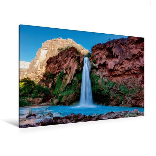 Premium Textil-Leinwand 120 cm x 80 cm quer, Havasupai Falls, Arizona   Wandbild, Bild auf Keilrahmen, Fertigbild auf echter Leinwand, Leinwanddruck - Coverbild