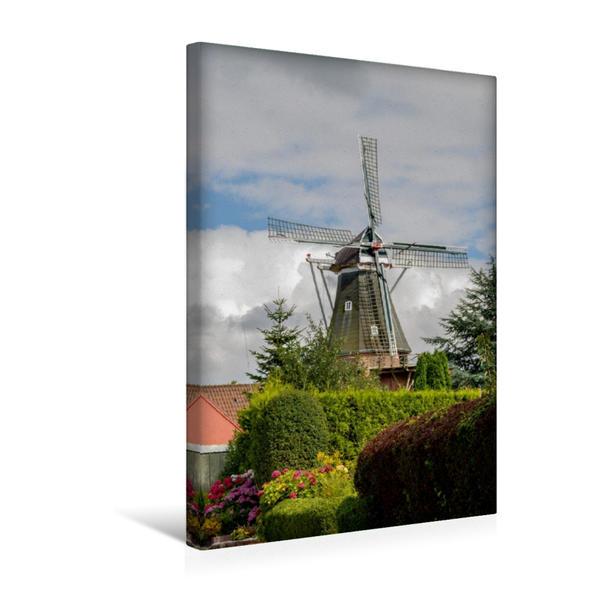 Premium Textil-Leinwand 30 cm x 45 cm hoch, Rysumer Mühle | Wandbild, Bild auf Keilrahmen, Fertigbild auf echter Leinwand, Leinwanddruck - Coverbild