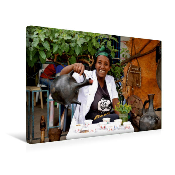 Premium Textil-Leinwand 45 cm x 30 cm quer, Bahir Dar | Wandbild, Bild auf Keilrahmen, Fertigbild auf echter Leinwand, Leinwanddruck - Coverbild