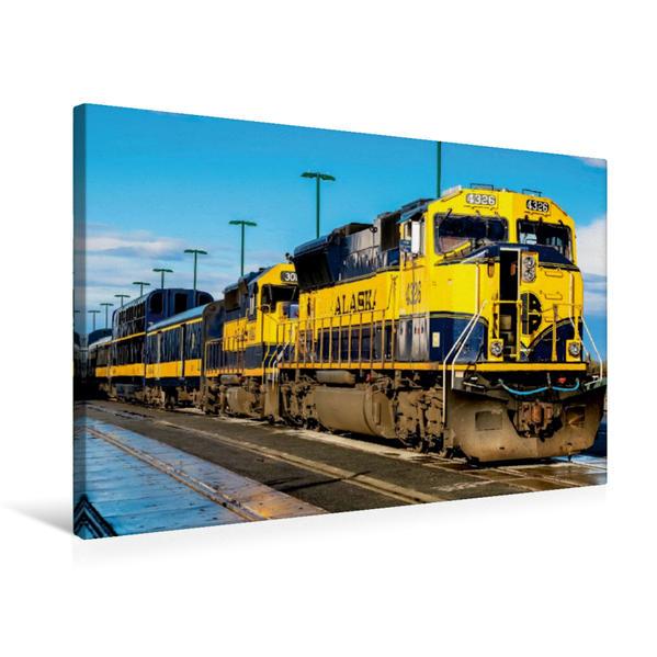 Premium Textil-Leinwand 75 cm x 50 cm quer, Alaska Railroad | Wandbild, Bild auf Keilrahmen, Fertigbild auf echter Leinwand, Leinwanddruck - Coverbild