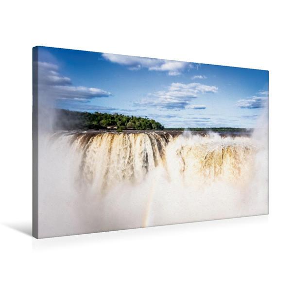 Premium Textil-Leinwand 75 cm x 50 cm quer, Wasserfälle von Iguazú | Wandbild, Bild auf Keilrahmen, Fertigbild auf echter Leinwand, Leinwanddruck - Coverbild