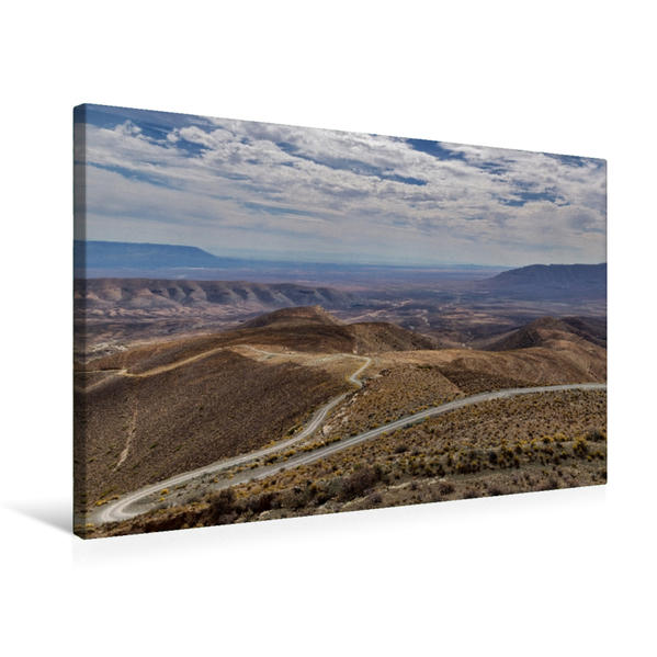 Premium Textil-Leinwand 75 cm x 50 cm quer, Ouberg Pass bei Sutherland   Wandbild, Bild auf Keilrahmen, Fertigbild auf echter Leinwand, Leinwanddruck - Coverbild