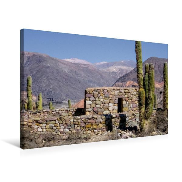 Premium Textil-Leinwand 75 cm x 50 cm quer, Pucará de Tilcara   Wandbild, Bild auf Keilrahmen, Fertigbild auf echter Leinwand, Leinwanddruck - Coverbild