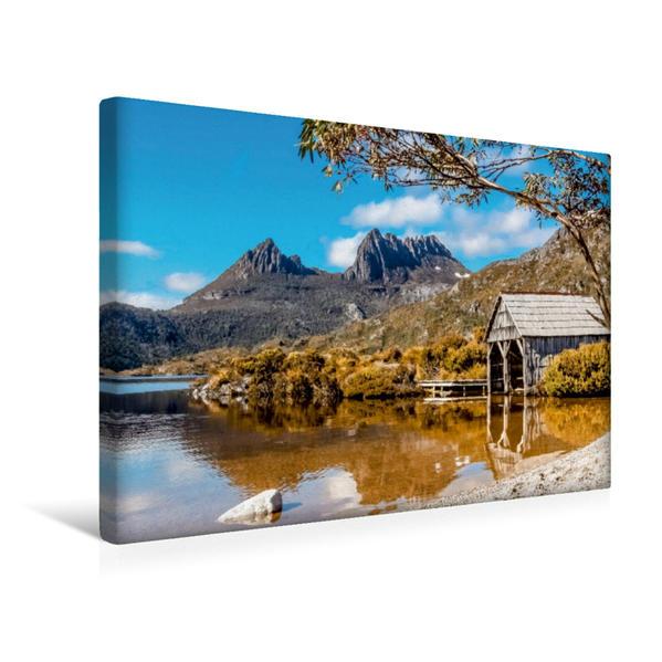 Premium Textil-Leinwand 45 cm x 30 cm quer, Cradle Mountain National Park   Wandbild, Bild auf Keilrahmen, Fertigbild auf echter Leinwand, Leinwanddruck - Coverbild