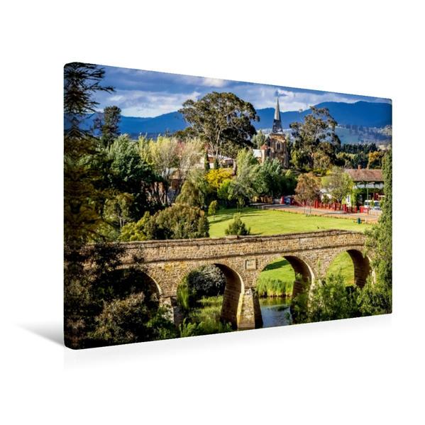 Premium Textil-Leinwand 45 cm x 30 cm quer, Richmond  Tasmania   Wandbild, Bild auf Keilrahmen, Fertigbild auf echter Leinwand, Leinwanddruck - Coverbild