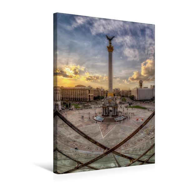 Premium Textil-Leinwand 50 cm x 75 cm hoch, Kiew Maidan   Wandbild, Bild auf Keilrahmen, Fertigbild auf echter Leinwand, Leinwanddruck - Coverbild