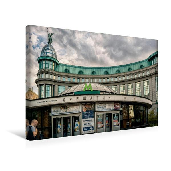 Premium Textil-Leinwand 45 cm x 30 cm quer, Kiew Khreshchatyk | Wandbild, Bild auf Keilrahmen, Fertigbild auf echter Leinwand, Leinwanddruck - Coverbild