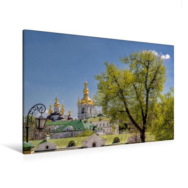 Premium Textil-Leinwand 120 cm x 80 cm quer, Höhlenkloster in Kiew   Wandbild, Bild auf Keilrahmen, Fertigbild auf echter Leinwand, Leinwanddruck - Coverbild