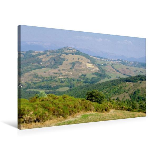 Premium Textil-Leinwand 75 cm x 50 cm quer, Landschaft in Umbrien | Wandbild, Bild auf Keilrahmen, Fertigbild auf echter Leinwand, Leinwanddruck - Coverbild