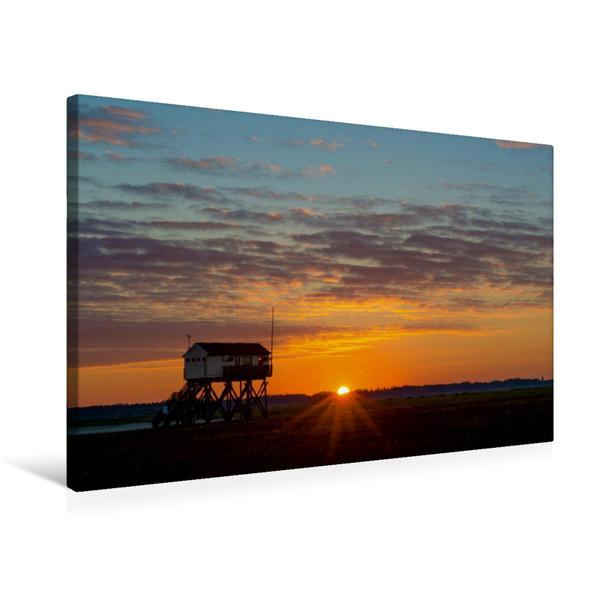 Premium Textil-Leinwand 75 cm x 50 cm quer, Typisch Nordsee | Wandbild, Bild auf Keilrahmen, Fertigbild auf echter Leinwand, Leinwanddruck - Coverbild