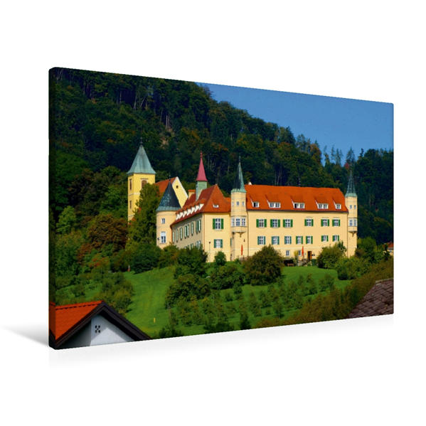 Premium Textil-Leinwand 90 cm x 60 cm quer, Schloss St. Martin | Wandbild, Bild auf Keilrahmen, Fertigbild auf echter Leinwand, Leinwanddruck - Coverbild