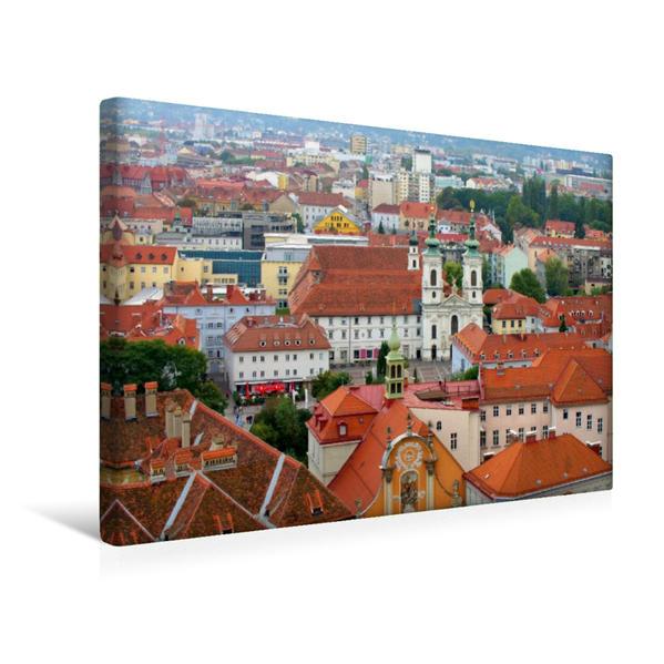 Premium Textil-Leinwand 45 cm x 30 cm quer, Kirche Mariahilf   Wandbild, Bild auf Keilrahmen, Fertigbild auf echter Leinwand, Leinwanddruck - Coverbild