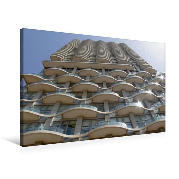 Premium Textil-Leinwand 75 cm x 50 cm quer, Neve Tzedek Tower | Wandbild, Bild auf Keilrahmen, Fertigbild auf echter Leinwand, Leinwanddruck - Coverbild