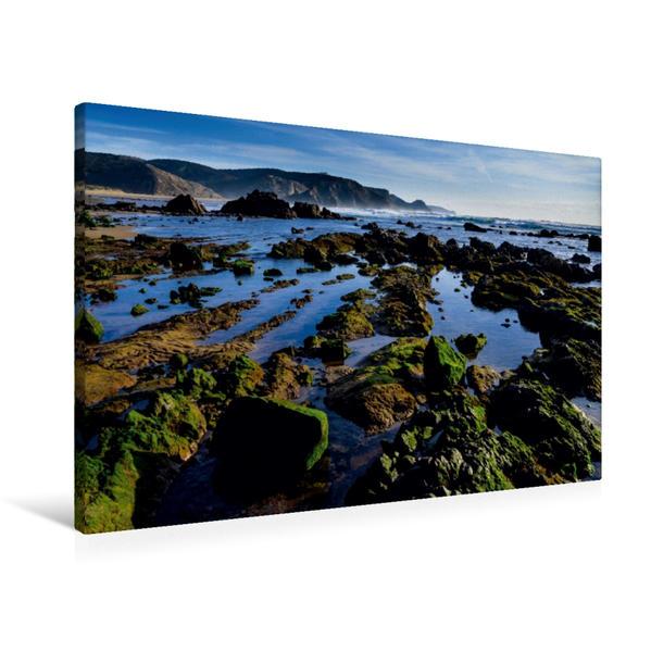 Premium Textil-Leinwand 90 cm x 60 cm quer, Algarve | Wandbild, Bild auf Keilrahmen, Fertigbild auf echter Leinwand, Leinwanddruck - Coverbild