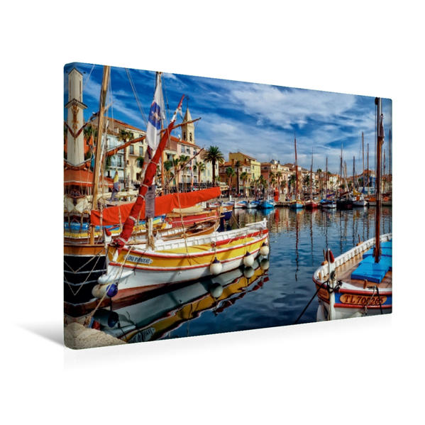 Premium Textil-Leinwand 45 cm x 30 cm quer, Sanary-sur-Mer, Frankreich | Wandbild, Bild auf Keilrahmen, Fertigbild auf echter Leinwand, Leinwanddruck - Coverbild