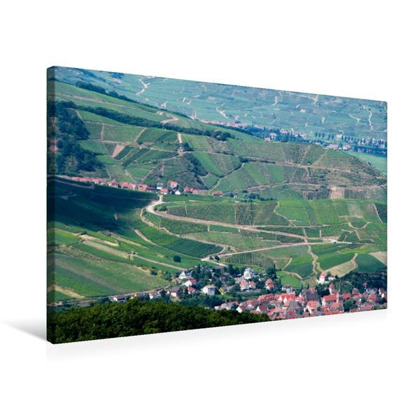 Premium Textil-Leinwand 75 cm x 50 cm quer, Blick über die Weinberge. | Wandbild, Bild auf Keilrahmen, Fertigbild auf echter Leinwand, Leinwanddruck - Coverbild