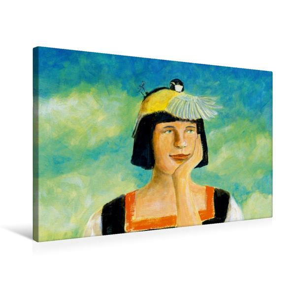 Premium Textil-Leinwand 75 cm x 50 cm quer, Einen Vogel haben | Wandbild, Bild auf Keilrahmen, Fertigbild auf echter Leinwand, Leinwanddruck - Coverbild