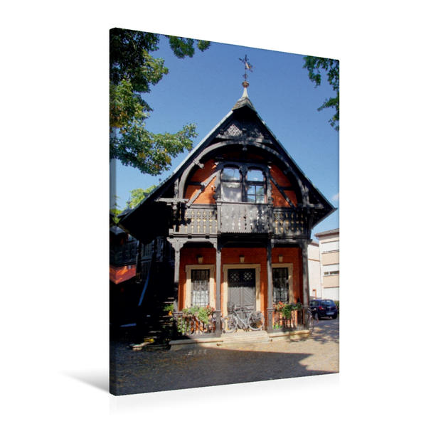 Premium Textil-Leinwand 60 cm x 90 cm hoch, Jugend-stil-volles Landau | Wandbild, Bild auf Keilrahmen, Fertigbild auf echter Leinwand, Leinwanddruck - Coverbild