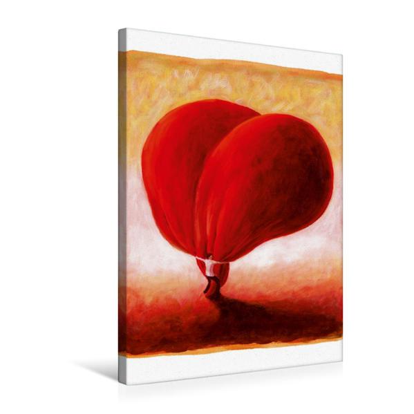 Premium Textil-Leinwand 50 cm x 75 cm hoch, Herz umarmen | Wandbild, Bild auf Keilrahmen, Fertigbild auf echter Leinwand, Leinwanddruck - Coverbild