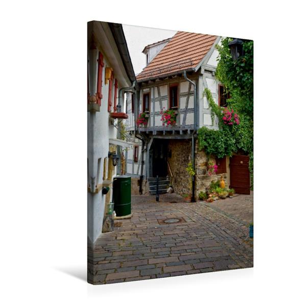 Premium Textil-Leinwand 50 cm x 75 cm hoch, Hinterhofidylle in Besigheim | Wandbild, Bild auf Keilrahmen, Fertigbild auf echter Leinwand, Leinwanddruck - Coverbild