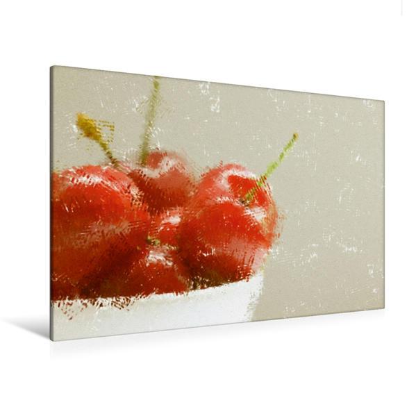 Premium Textil-Leinwand 120 cm x 80 cm quer, Ein Motiv aus dem Kalender Love Cherry | Wandbild, Bild auf Keilrahmen, Fertigbild auf echter Leinwand, Leinwanddruck - Coverbild