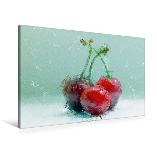 Premium Textil-Leinwand 90 cm x 60 cm quer, Ein Motiv aus dem Kalender Love Cherry | Wandbild, Bild auf Keilrahmen, Fertigbild auf echter Leinwand, Leinwanddruck - Coverbild