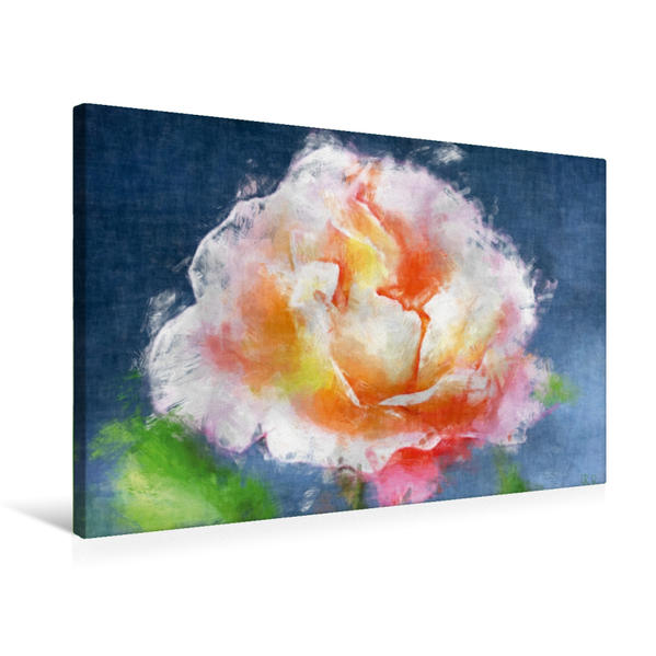 Premium Textil-Leinwand 75 cm x 50 cm quer, Ein Motiv aus dem Kalender Painting Artwork   Wandbild, Bild auf Keilrahmen, Fertigbild auf echter Leinwand, Leinwanddruck - Coverbild