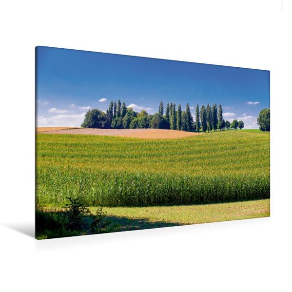 Premium Textil-Leinwand 120 cm x 80 cm quer, Ein Streifzug durch das Dachauer Land | Wandbild, Bild auf Keilrahmen, Fertigbild auf echter Leinwand, Leinwanddruck - Coverbild