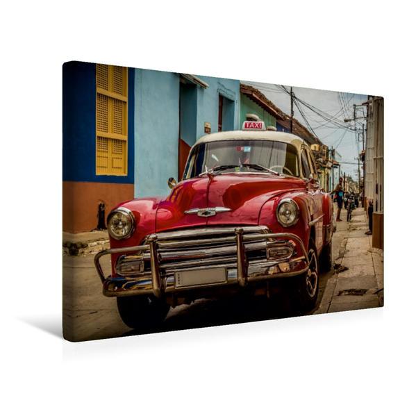 Premium Textil-Leinwand 45 cm x 30 cm quer, Kuba Nostalgie: Oldtimer in Trinidad | Wandbild, Bild auf Keilrahmen, Fertigbild auf echter Leinwand, Leinwanddruck - Coverbild
