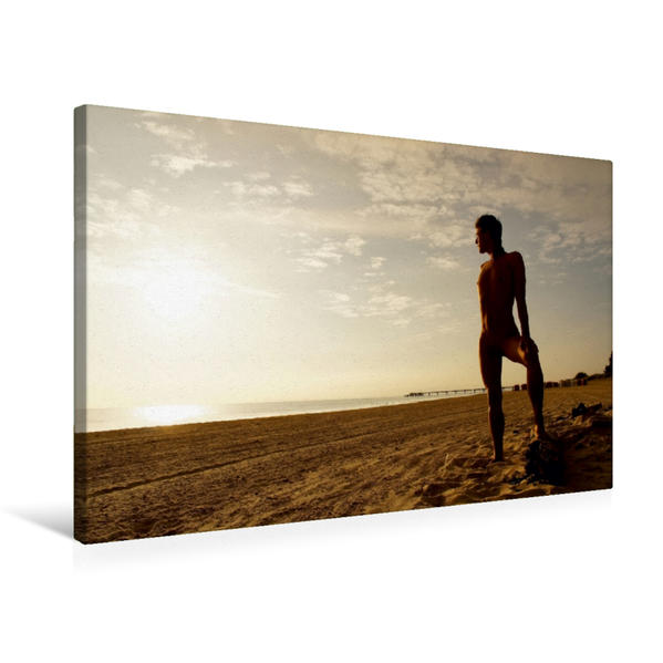 Premium Textil-Leinwand 75 cm x 50 cm quer, Pose   Wandbild, Bild auf Keilrahmen, Fertigbild auf echter Leinwand, Leinwanddruck - Coverbild