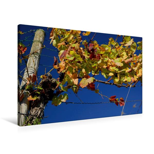 Premium Textil-Leinwand 90 cm x 60 cm quer, Esslingen - 1200 Jahre Weinbau | Wandbild, Bild auf Keilrahmen, Fertigbild auf echter Leinwand, Leinwanddruck - Coverbild