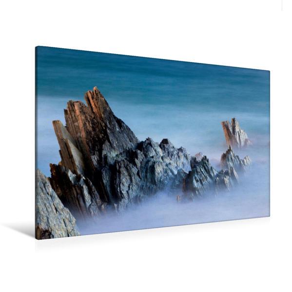 Premium Textil-Leinwand 120 cm x 80 cm quer, Schiefer / Norwegen | Wandbild, Bild auf Keilrahmen, Fertigbild auf echter Leinwand, Leinwanddruck - Coverbild