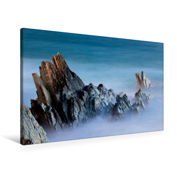 Premium Textil-Leinwand 90 cm x 60 cm quer, Schiefer / Norwegen | Wandbild, Bild auf Keilrahmen, Fertigbild auf echter Leinwand, Leinwanddruck - Coverbild