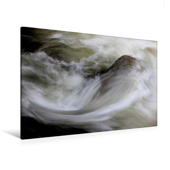Premium Textil-Leinwand 120 cm x 80 cm quer, Wassersymphonie / Frankreich | Wandbild, Bild auf Keilrahmen, Fertigbild auf echter Leinwand, Leinwanddruck - Coverbild