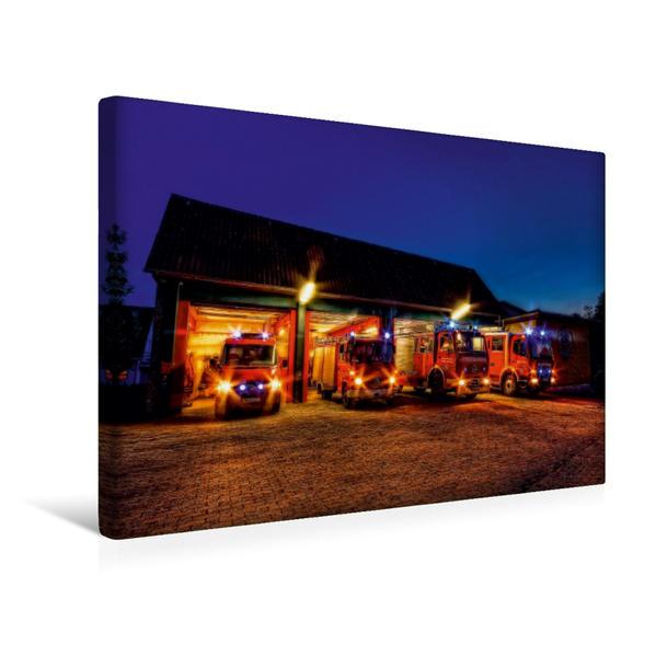 Premium Textil-Leinwand 45 cm x 30 cm quer, Ein Motiv aus dem Kalender Feuerwehr | Wandbild, Bild auf Keilrahmen, Fertigbild auf echter Leinwand, Leinwanddruck - Coverbild