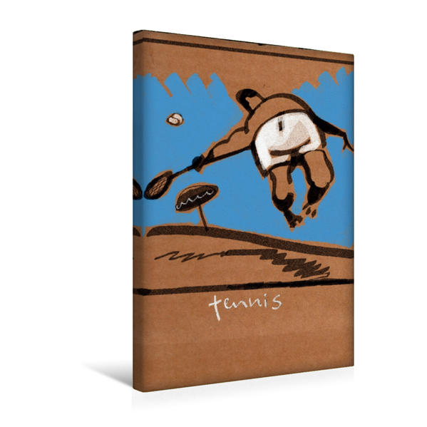 Premium Textil-Leinwand 30 cm x 45 cm hoch, Tennis | Wandbild, Bild auf Keilrahmen, Fertigbild auf echter Leinwand, Leinwanddruck - Coverbild